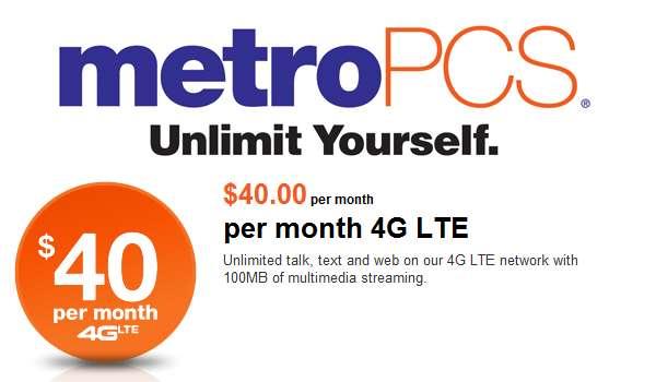 $40 10GB Metro PCS Plan