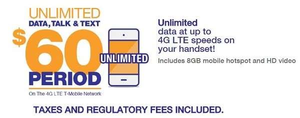 $60 Unlimited Metro PCS Plan
