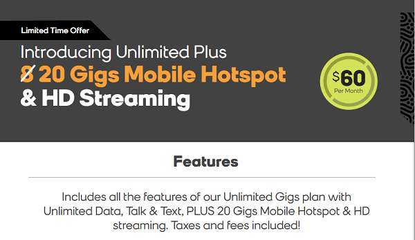 Boost Mobile $60 Hotspot Plan