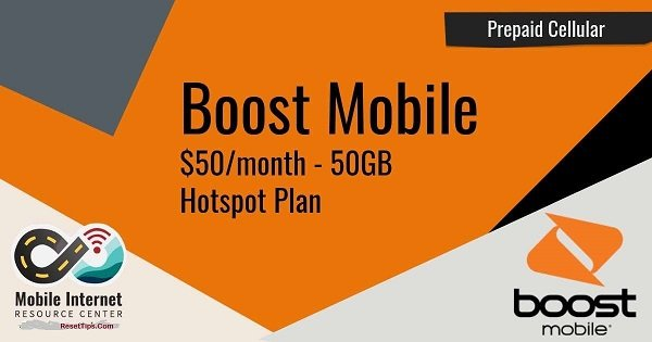 Boost Mobile $50 Hotspot Plan