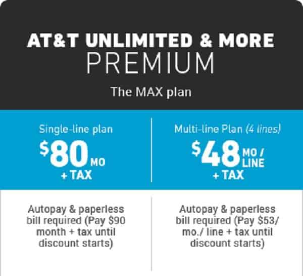 AT&T Unlimited Data Plan & More Premium