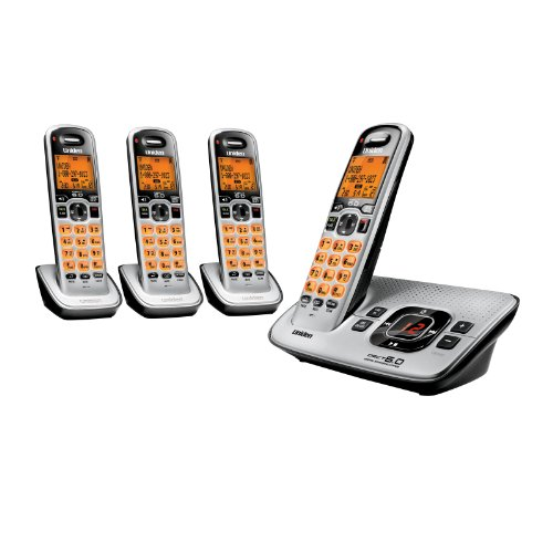 Best Cordless Phones for Seniors - Uniden DECT 6.0 Expandable 4 Handset Cordless Phone with Digital Answering System