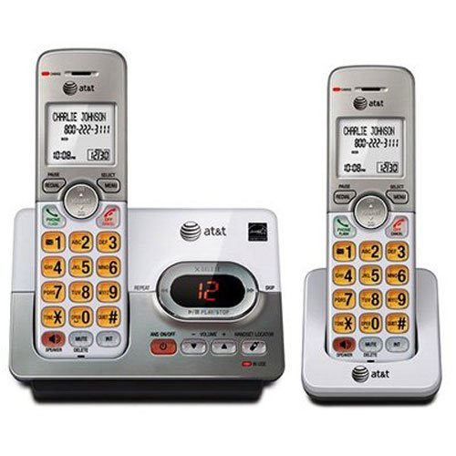 Best Cordless Phones for Seniors - Panasonic KX – AT&T EL522132 2 Handset Cordless Answering System with Caller ID/Call Waiting