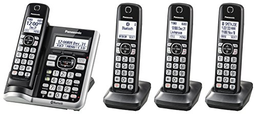 Best Cordless Phones for Seniors - Panasonic KX-TGD56a4M Link2Cell Bluetooth Cordless Phone with Voice Assist