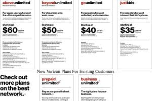 New Verizon Plans For Existing Customers