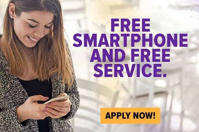 How can I apply for free phone