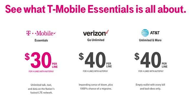 T-Mobile Essentials Unlimited Plans