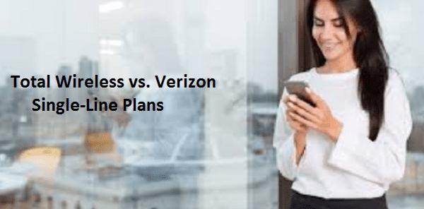Total Wireless vs. Verizon Single-Line Plans