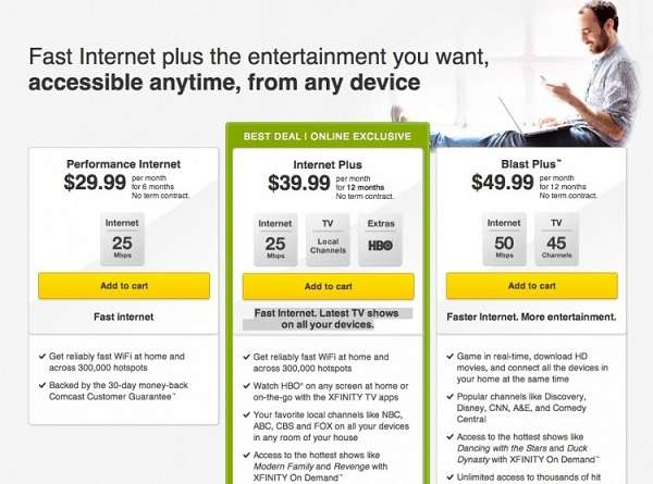 Comcast Cable and Internet Deals - Performance Pro+ For Blazing Speed
