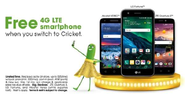 LG Fortune 3 Cricket Wireless Free Phones When You Switch