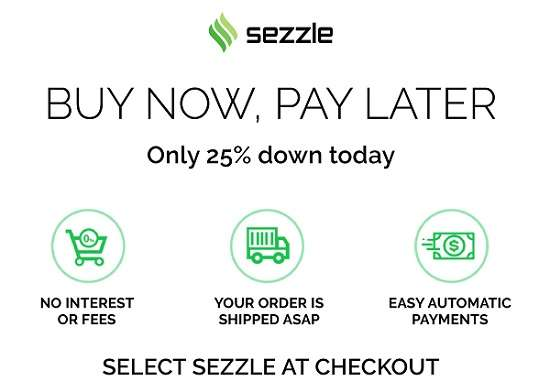 Sezzle - buy now pay later apps no credit check