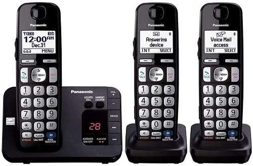 Panasonic KX-TGE233B DECT 6.0 Plus Technology