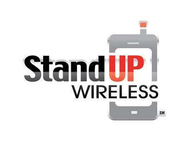 StandUp Wireless free cell phone