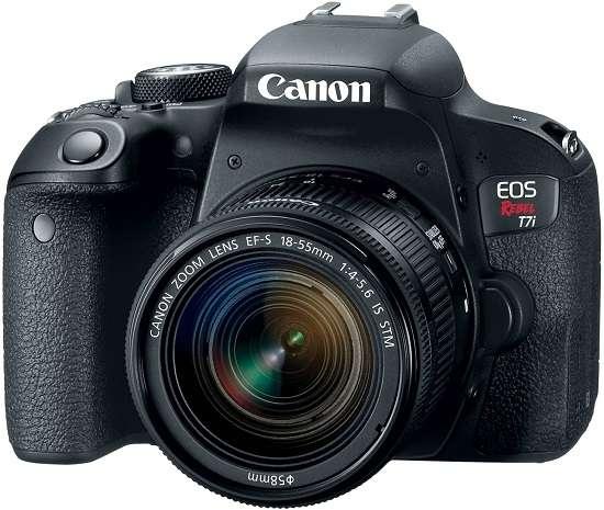 Canon EOS Rebel T7i camera for interviews