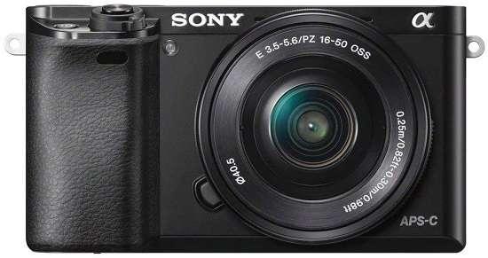Sony Alpha A6000 digital SLR camera for interviews