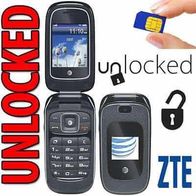 ZTE Z222 3G AT&T Flip Phone For Seniors