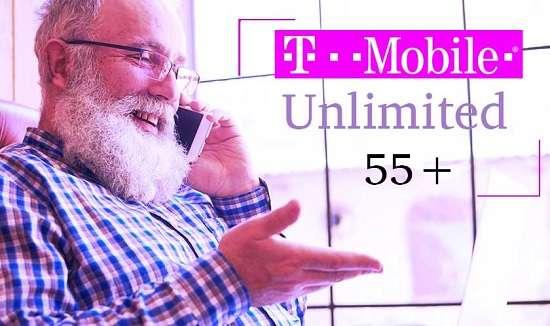 T Mobile unlimited 55 senior